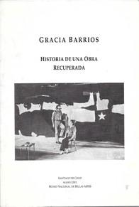 """Portada del catálogo """"Gracia Barrios, historia de una obra recuperada"""""""
