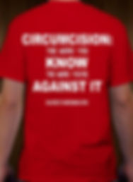 Circumcision: The More You Know The More You're Against It Intactivist T-Shirt against circumcision