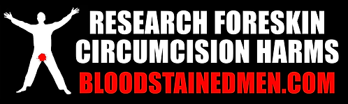 Research Foreskin Circumcision Harms Bumper Sticker