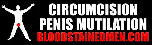 Circumcision Penis Mutilation Bumper Sticker