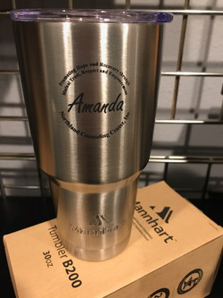 Example of Customer Supplied Tumbler Per
