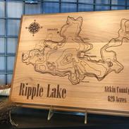 RIPPLE LAKE, AITKIN COUNTY, MN LAKE MAP