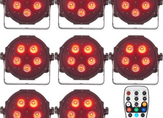 8 ADJ Tripar LED spots LEJE 1 dag