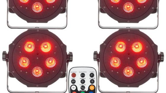 4 ADJ Tripar LED spots LEJE 1 dag
