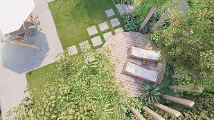Groene Tuin Aan Het Water