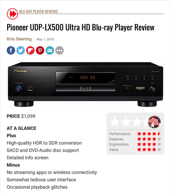 Pioneer Elite Returns