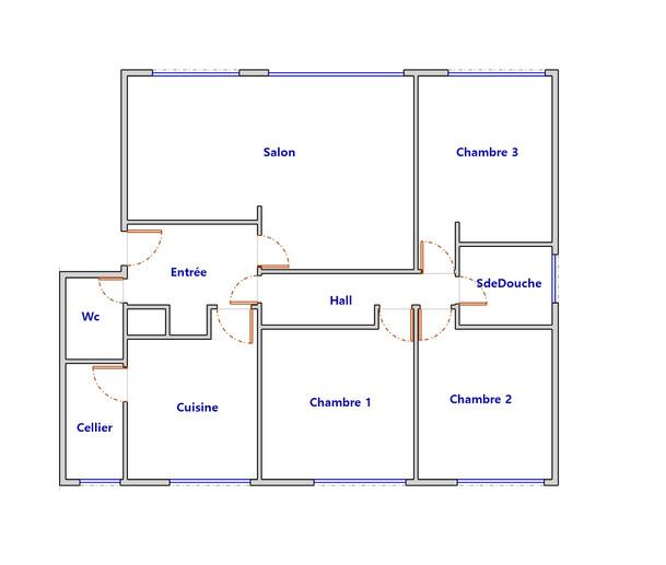 Plan appartement pour DPE