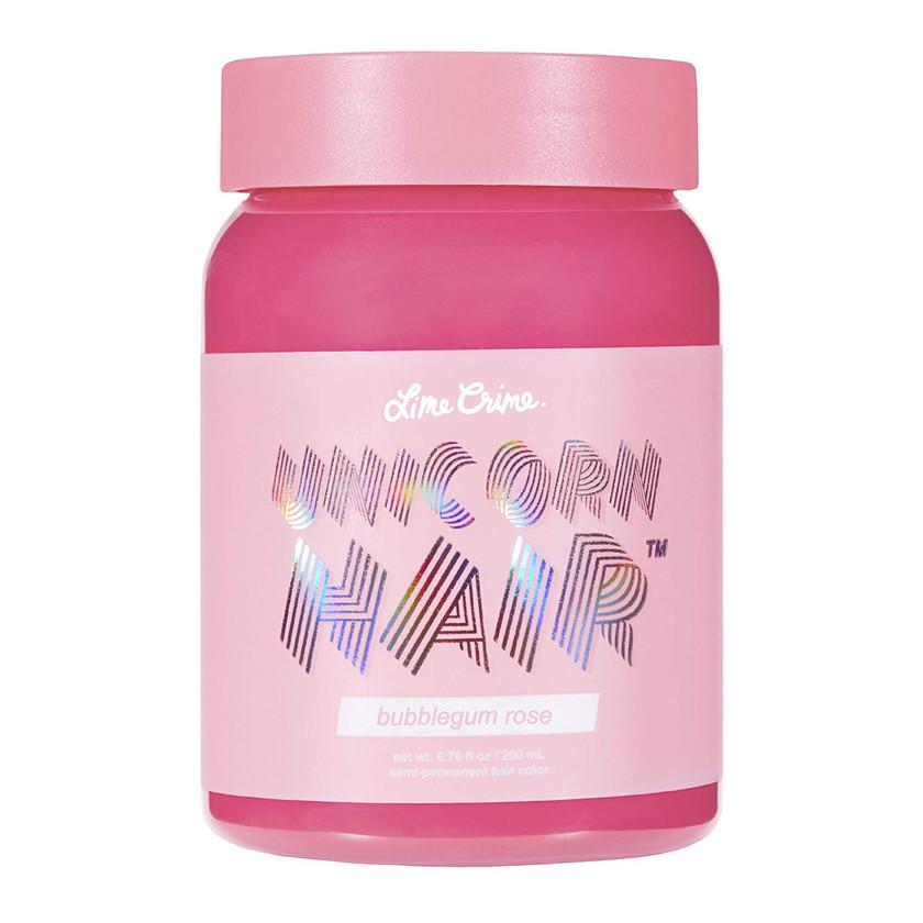 Lime Crime Unicorn Hair Bubblegum Rose (Full Coverage). Semi Permanent Hair Dye. Warm Rose Pink Vegan Hair Color