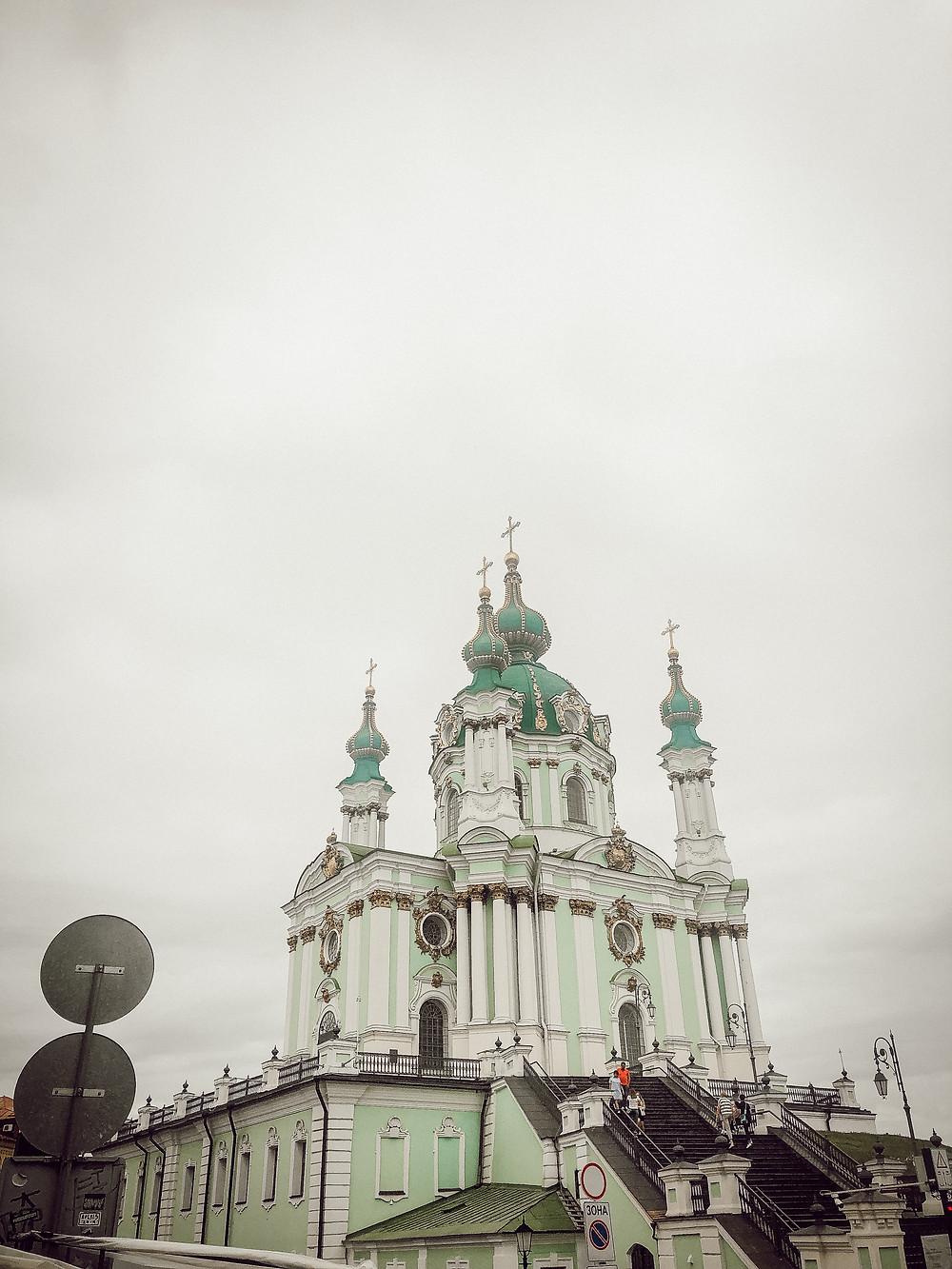 St. Andrew's Church, Kyiv, Ukraine.