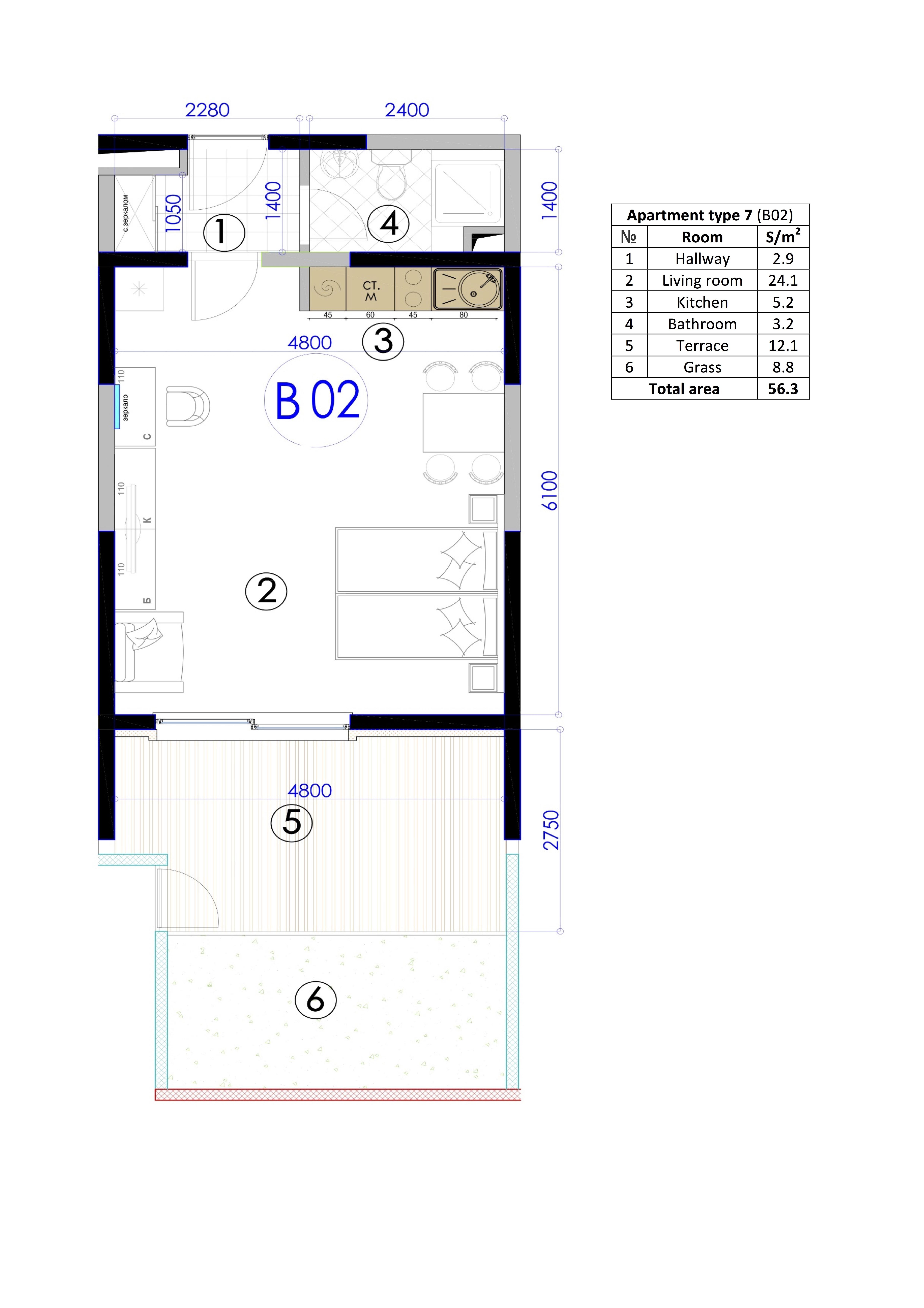 Apartament B02
