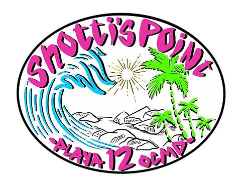 Shotti's Point Playa 12 Colored Sticker