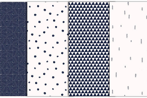 4 minimalistische Muster