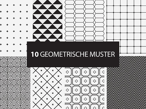 10 geometrische Muster