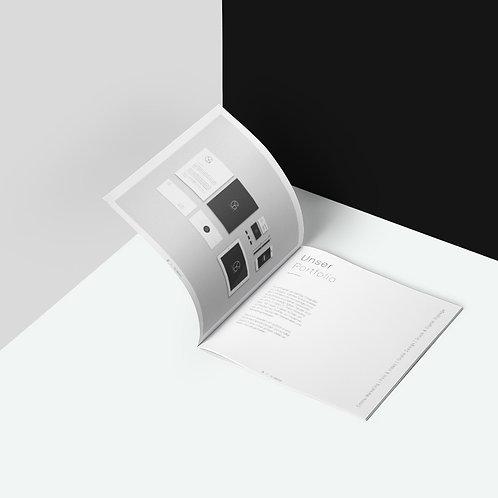 Mockup Broschüre quadratisch