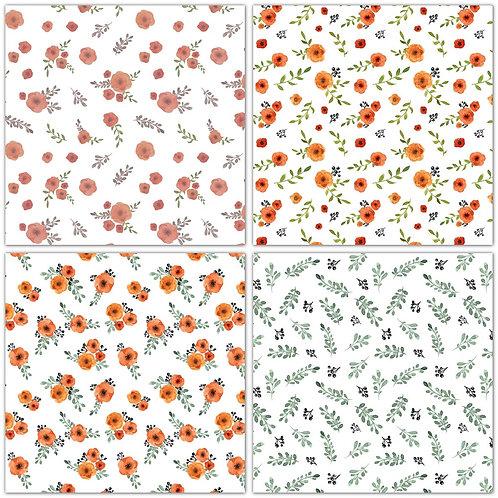 4 Blumen Muster