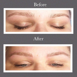 Microblading subtle but noticeable chang