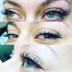 Green eyed beauty with lashes galore! #lashextensions #lashesonfleek #volumelashes #lashedup #lashes