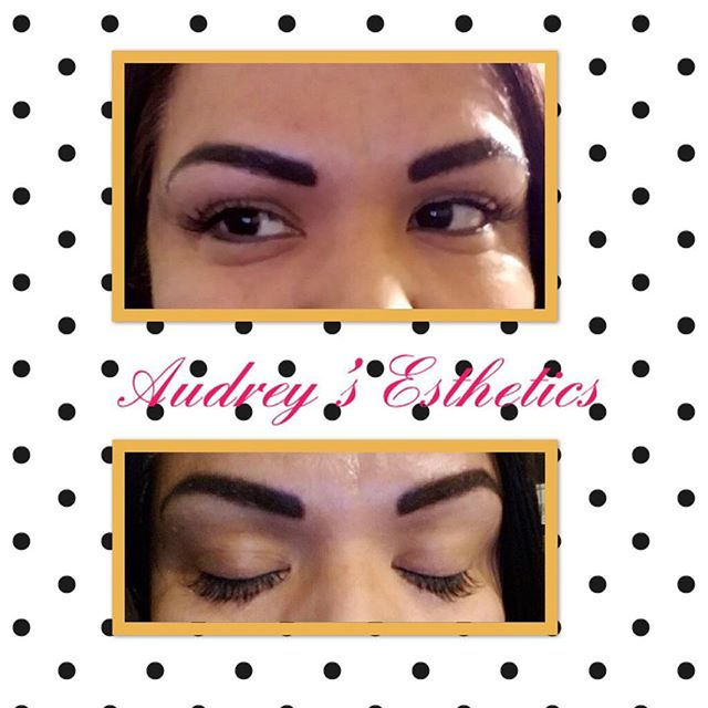 Lashes and eyebrows for this beauty today