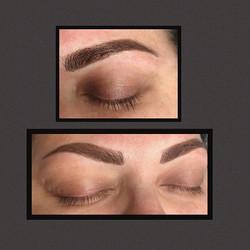 Hybrid brows done with machine #pmumachi