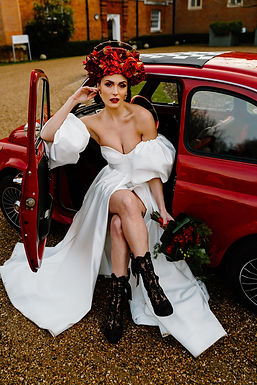 Fiat 500 Photoshoot on Wedding Chicks