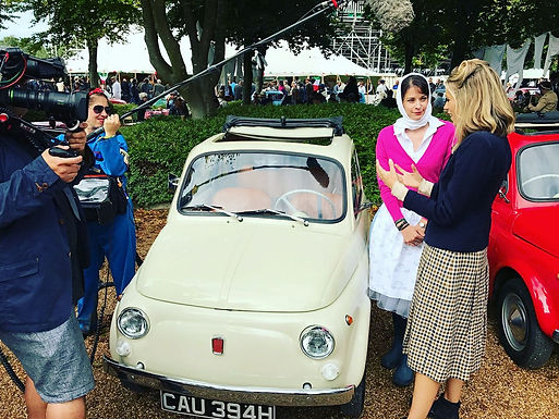 Fiat 500 Hire Features On ITV4 Goodwood Revival Show