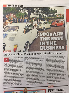 Fiat 500 Hire Features in Classic Car Weekly
