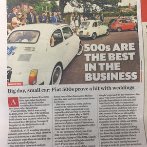 Fiat 500 Hire is published in the weekly newspaper, Classic Car Weekly.