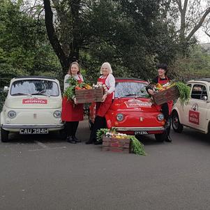 Three Fiat 500s star in Birra Moretti photoshoot and film in London.