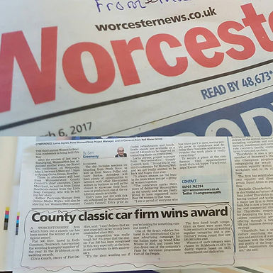 Fiat 500 Hire Makes The Worcester News