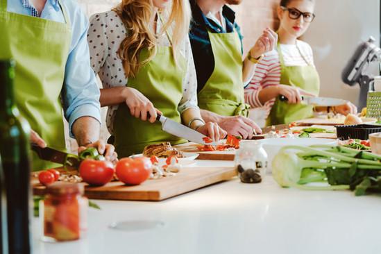 Cours de cuisine vivante