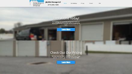 J&J Mini Storage, LLC Web Design at Joe Peters Media