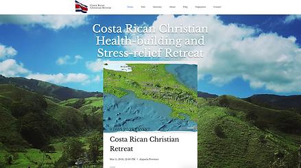 Costa Rican Christian Retreat Web Design at Joe Peters Media