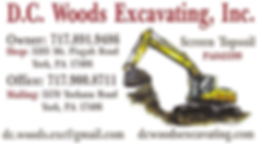 DC Woods Excavating Business Card