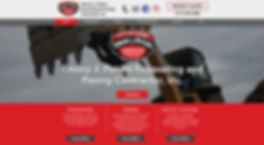Emory J. Peters Excavating and Paving Contractor, Inc. Web Design at Joe Peters Media