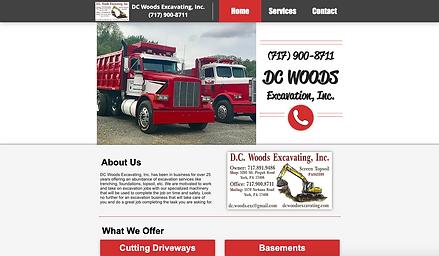 DC Woods Excavating, Inc. Web Design at Joe Peters Media
