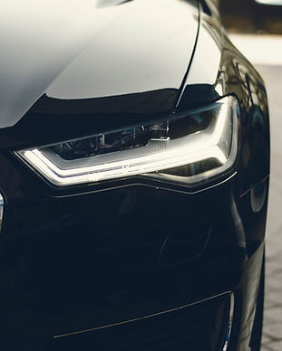 Autofront Audi mit LED Lichter