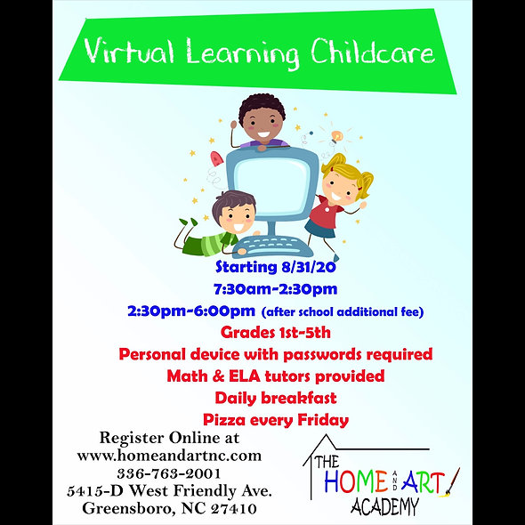 Virtual Learning Childcare