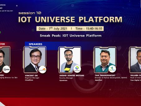 Digital Solutions & IOT Asia 2021 (DSA) : Session 10 - IOT Universe Platform