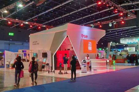 พาชมบูธของกลุ่ม True โชว์เทคโนโลยีหุ่นยนต์, 5G, ดิจิทัลโซลูชัน Digital Thailand Big Bang