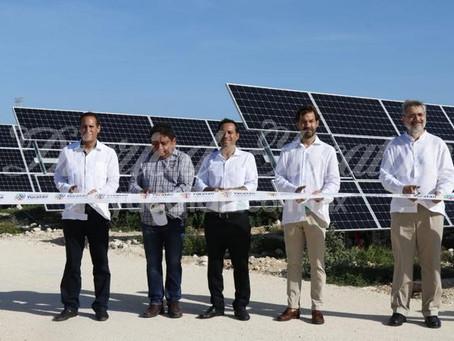 Inauguran la primera planta de energía solar de Yucatán