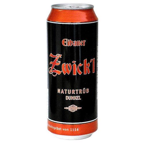 Пиво Eibauer Zwick'l Naturtrüb Dunkel 0,5 л баночн
