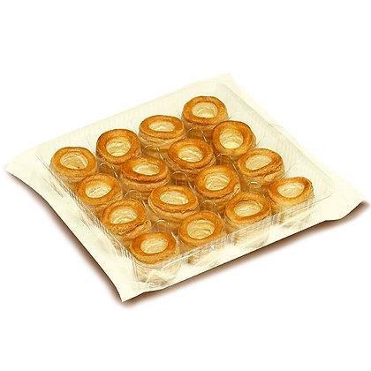 Мини-тарталетки из слоеного теста (16 шт, Ø 38 мм)