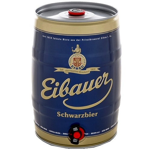 Пиво Eibauer Schwarzbier 5 л бочонок