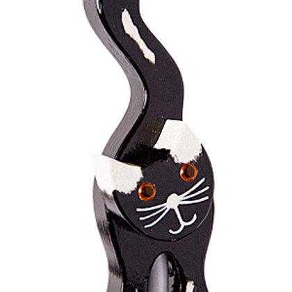 Cat 2 Black/White Ears Garden Ornament