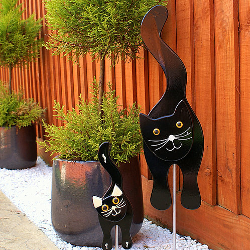 Black Cat 2 Garden Ornament