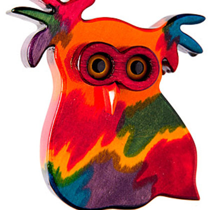 Rainbow Owl 2 Garden Ornament