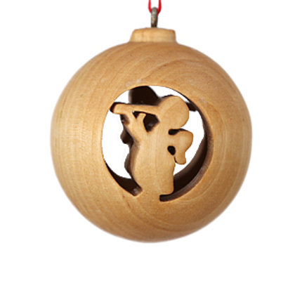 Wooden Bauble with Angel