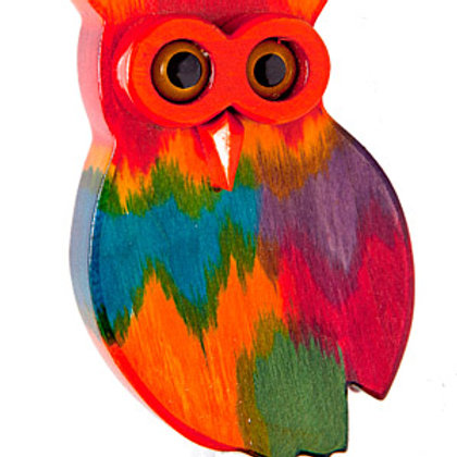 Rainbow Owl 1 Garden Ornament