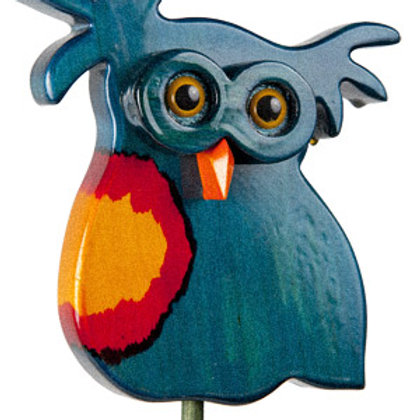 Blue Owl 2 Garden Ornament