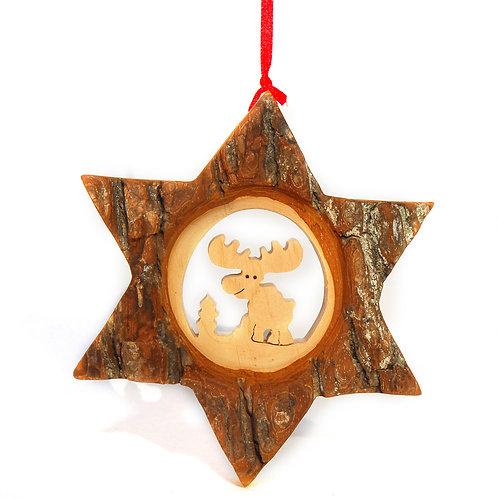 Bark Star with Reindeer